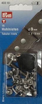 Holnieten zilver kleur 4-6 mm
