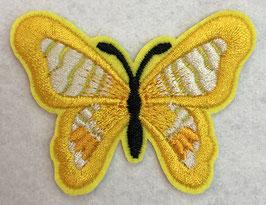 Applicatie vlinder geel met een zwart lijf