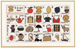 Nijntje alfabet met woordjes borduurpakket