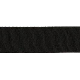 Keperband polyester 30 mm zwart
