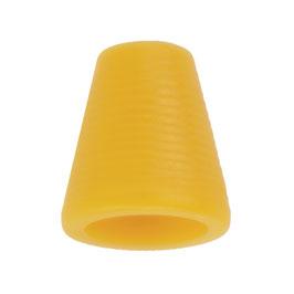 Koorddop kegelvorm geel