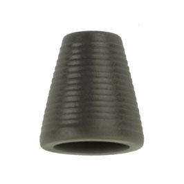 Koorddop kegelvorm donker grijs