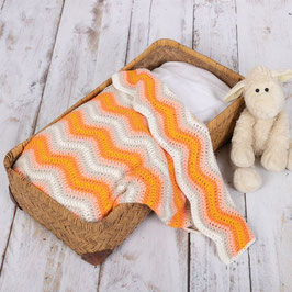 Baby Ripple Blanket crochetkit - Orange