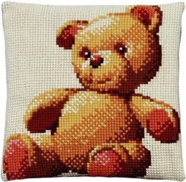 Teddybeer kruissteek borduurkussen