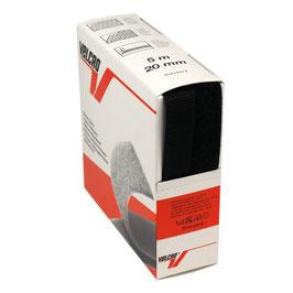 Opnaaibaar klittenband zwart 20 mm
