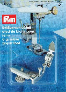 Ritssluitingenvoet voor naaimachines met een clipvoet