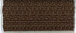 Hazelnoot bruine rits met brons kleur metaal