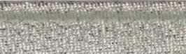 Zilver glitter paspelband