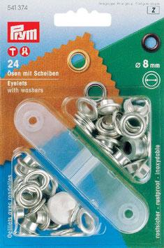 Ringen met schijven 8 mm zilverkleurig