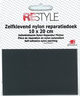 Zelfkevend nylon reparatiedoek Donker grijs