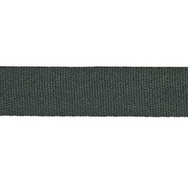 Keperband van polyester 20 mm donker grijs