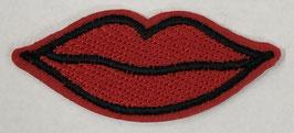 Rode lippen applicatie