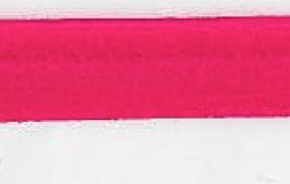 Donker roze paspelband van satijn