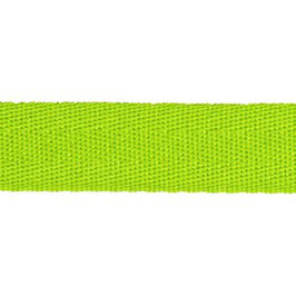 Keperband van polyester 20 mm lime