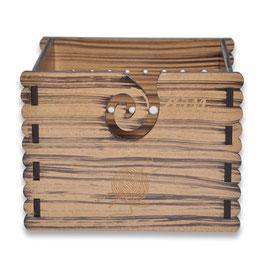 Durable houten yarn box hout met de jaarringen print