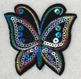 Pailletten vlinder applicatie regenboog nr2