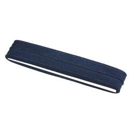 Marine blauw biaisband van katoen 12 mm op 5 meter kaartje