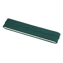 Donker groen biaisband van katoen 12 mm op 5 meter kaartje