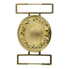 Gesp rond metaal goudkleur 40mm