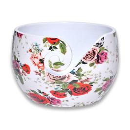 Durable aluminium yarn bowl hoog model met rozen print