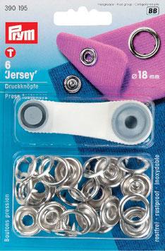 Drukknopen inslaan zilver kleur voor tricot open ring 18 mm