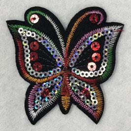 Pailletten vlinder applicatie regenboog nr3