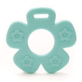 Baby blauwe bloem met bloemprint bijtring van Durable.
