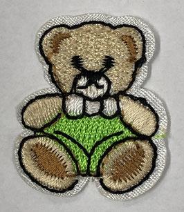Groene teddybeer applicatie