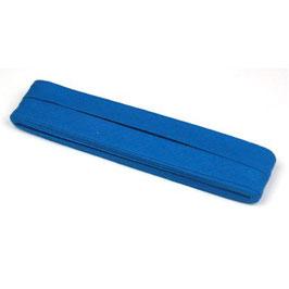 Konings blauw biaisband van katoen 12 mm op 5 meter kaartje