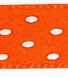 Satijnlint met stip oranje