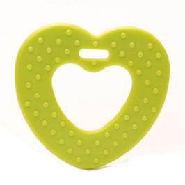 Groene ribbel hartjes bijtring van Durable.