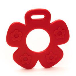Rode bloem met bloemprint bijtring van Durable.
