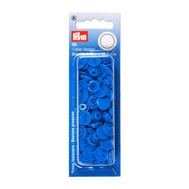 Ronde Color Snaps staal blauw
