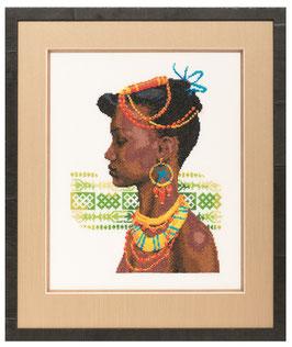 Borduurpakket van een Afrikaanse vrouw.
