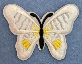 Applicatie vlinder wit met een zwart lijf
