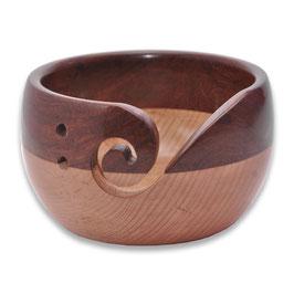 Durable houten yarn bowl laag model met donker houten bovenkant