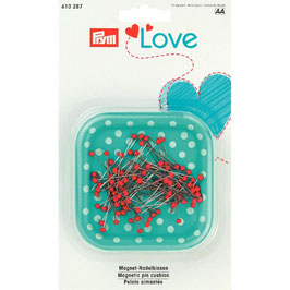 Prym Love Magnetisch speldenkussen mint met witte stippen