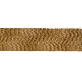 Keperband van polyester 20 mm bruin