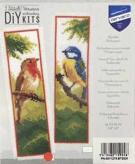 Bladwijzer borduurpakket van een roodborstje