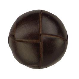 Leer gevlochten knoop donker bruin