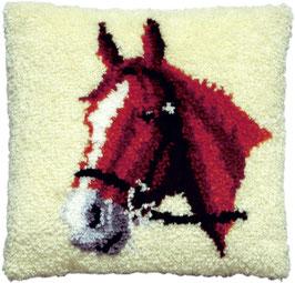 Paardenhoofd knoopborduurkussen