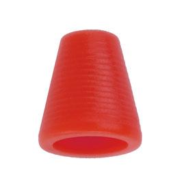 Koorddop kegelvorm rood