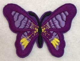 Applicatie vlinder paars met een zwart lijf