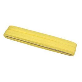Licht geel biaisband van katoen 12 mm op 5 meter kaartje