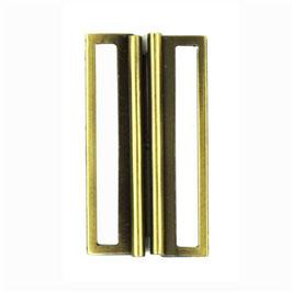 Gesp rechthoek met ronding metaal goudkleur