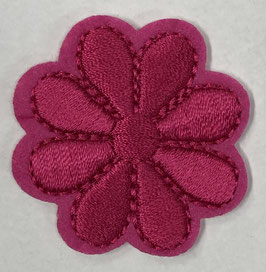 Fuchsia ronde basis bloem applicatie