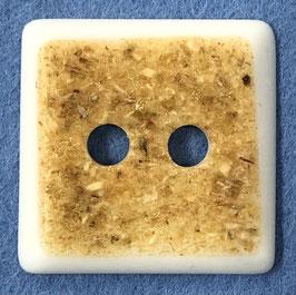 Vierkante knoop beige met lichte omranding