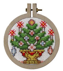 Kerstboom borduurring