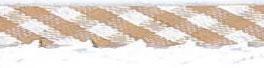 Ruitjes biaisband met een kantje bruin