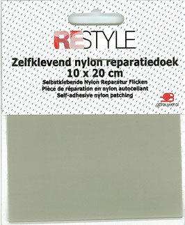 Zelfkevend nylon reparatiedoek licht grijs